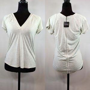 Poof New York Detail V-Neck T-Shirt, NWT, Medium